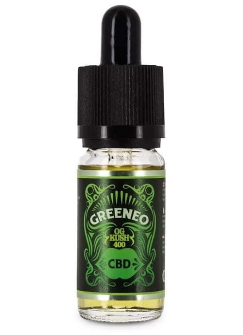 E líquido Greeneo CBD Cânhamo OG Kush 400 mg
