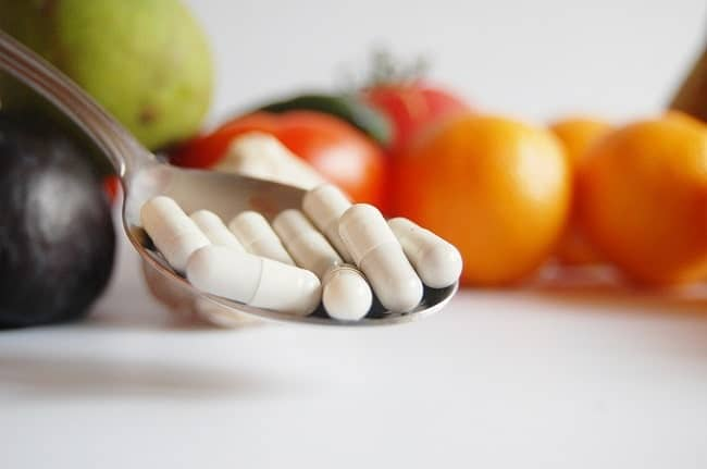 CBD food supplements rich in vitamins and omega
