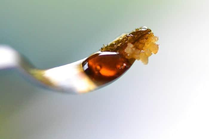 Après extraction, le pollen de cannabis ressemble en fait à de la résine-min