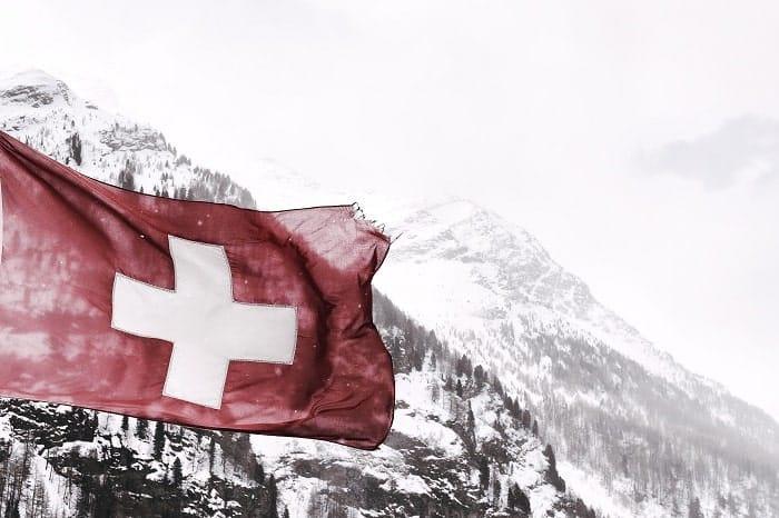 Schweiz-Flaggenberg